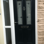 black door front