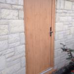 orange door from outside