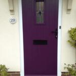 purple door of a house