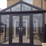 wooden conservatory from outside