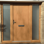 wooden door from outside