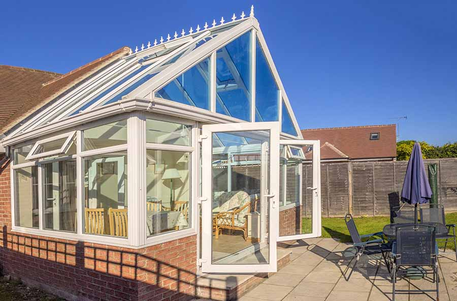 newly built conservatory